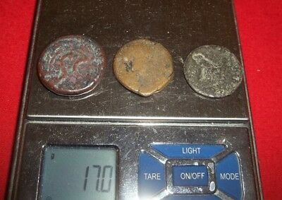 Ancient Roman AE Coins Follis +1/2 inch, 16+grams - Lot of 3x Ancient Rare coins