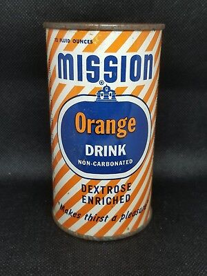 Vintage MISSION Orange Drink Soda Pop Can  Dated 1954 Canned Air
