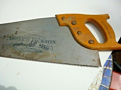 Old Spear & Jackson 'Work Horse' hand saw - sharp blades cuts well