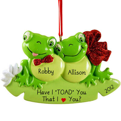 Frog Pad Family 2 3 4 5 6 Personalized Christmas Tree Ornament