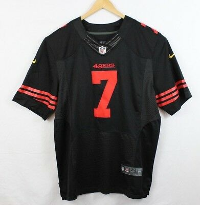3d835cc17f7 ... australia nike elite nfl colin kaepernick black red san francisco 49ers  jersey large 44 439de cc4cd