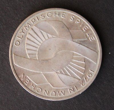 1972 Munich Games Germany 10 DM silver coin .625 silver 15 grams