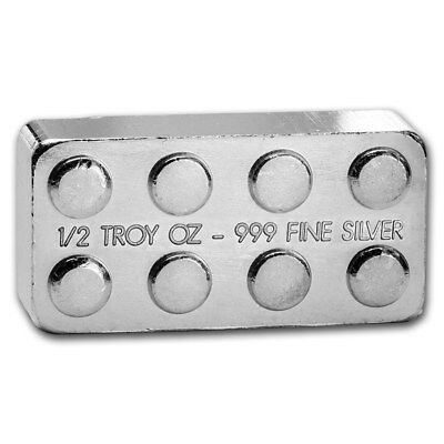 1/2 oz .999 Fine Solid Silver Art. New, Hand Poured: Silver Building Block Bar