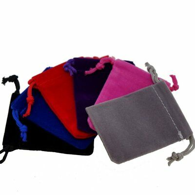 """Soft Velvet Pouches with Drawstring for Gift Packaging Bags 2""""x 2.75"""" 6 Colors"""