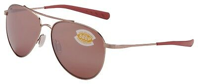 Costa Del Mar Cook Sunglasses COO-164-OSCP Rose Gold 580P Copper Polarized Lens