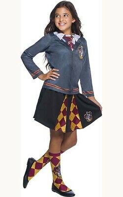 Licensed Harry Potter Gryffindor Hermione Child Book Week Costume Top