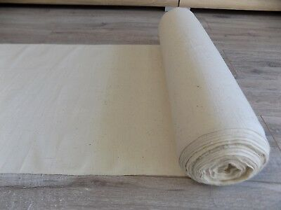 Homespum Cotton thin Fabric 25,5x0,47m 1940s Color cream Great condition