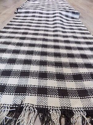 Antique Handwoven medium heavy Cotton Fabric 1930s Ukraine 11,7x0,52m NOT USED