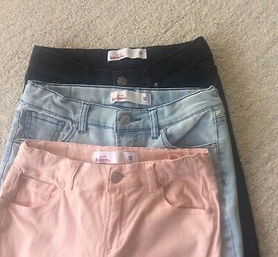 Just Jeans, Girls Denim Jeans, Size 12 - bulk buy - 3 pairs great condition