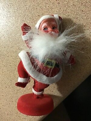 vintage 1970's christmas Santa decoration