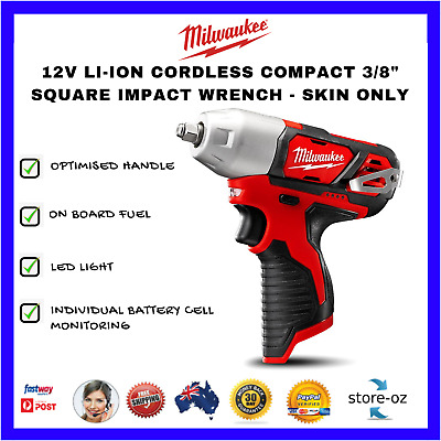 """Milwaukee Li-Ion Cordless Compact 3/8"""" Square Impact Wrench - Skin Only"""