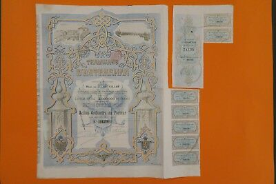 Russian Bond Tramways D Astrakhan Action Ordinaire 1896 + Coupons