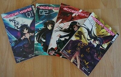 Accel World Manga Band  1 - 4 (TOKYPOP MANGA)