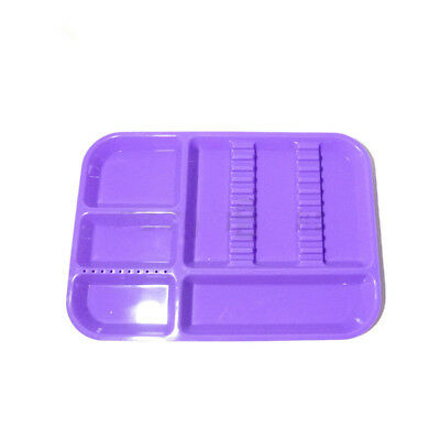 Dental Plastic Separate Divided Tray Impact Resistant Autoclavable Purple Color