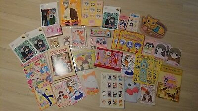 RARE NAKAYOSHI COMIC ANIME Fruits Basket SET CLEAR FILE NOTEBOOK TOWEL JAPAN
