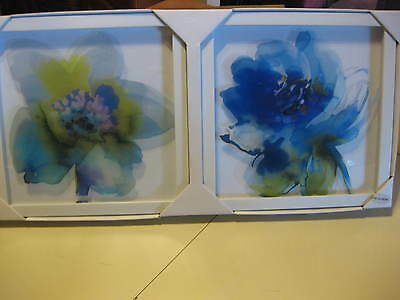 Two Framed Floral Picture Prints By Manuscript Limited England