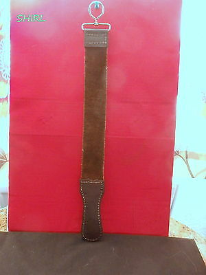"""Leather Razor Strop  17.1/2"""" Long - 2"""" Wide     Leather Both Sides  -  New"""