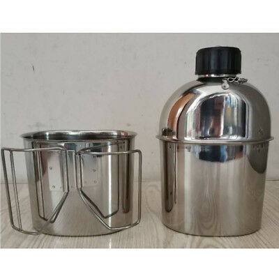 Stainless Steel Outdoor Sports Soldier Us Canteen With Cup And Cover Type 78
