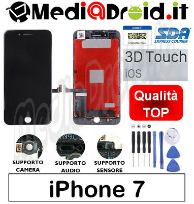 Apple Iphone 7 Nero Vetro Touch Display Lcd Schermo Completo Originale Tianma