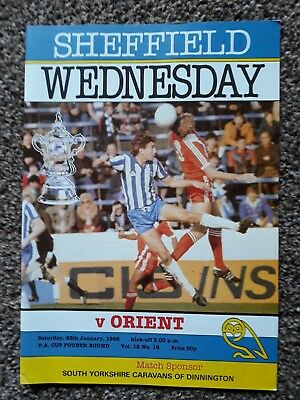 Sheffield Wednesday V Orient Fa Cup 1986.