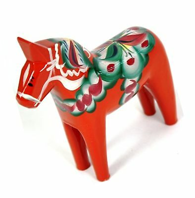 "Traditional Wooden Swedish Dala Horse - Red 5"" (13cm)"
