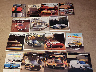 1987, 1988, 1989 Ford Sales Brochures  Catalogs Lot