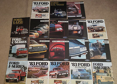 1983 Ford Sales Brochures Catalogs LOT