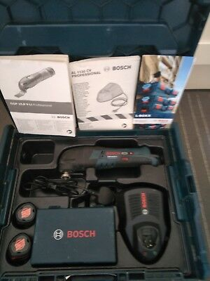 Bosch GOP 10.8V Multi Tool 2×batteries, charger , accessories and sortimo box