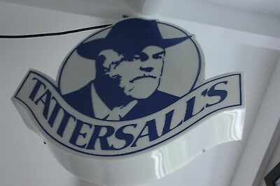 Tattersalls sign lights up perfect . Very rare item ,excellent condition