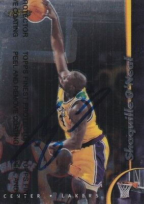 Shaquille O'Neal · Los Angeles Lakers · NBA · Topps · Sammelkarte · Autogramm