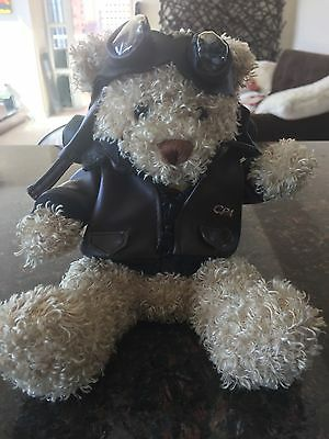 CXexcitment - Cathay Pacific Airways Pilot Cuddly Bear in Flying Jacket & Goggle