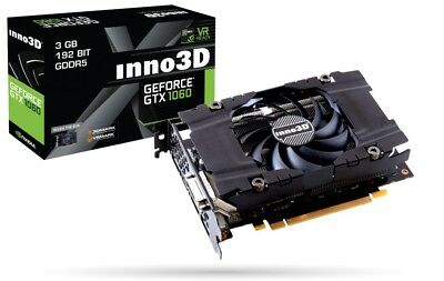 Inno3D NVIDIA GTX1060 3GB DDR5 DVI HDMI DP Grafikkarte GPU, PCIe, tested 100%