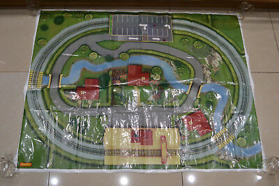 HORNBY OO 00 Model Railway Trackmat Layout Planner Track Mat 117 5 x 90 5cm  3'6
