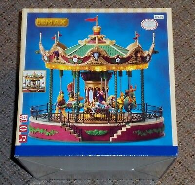 Christmas LEMAX Musical Jungle Carousel Merry Go Round Brand New In Box!!!