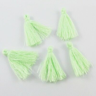 Iced Mint Cotton Tassel Approx 25-30mm Suit Earrings, Bracelet & More Select Qty