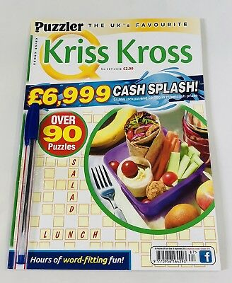 PUZZLER Kriss Kross PUZZLE BOOK #487 - FREE PEN! (BRAND NEW BACK ISSUE)