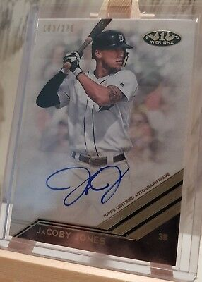 2018 Topps Tier One JaCoby Jones Detroit Tigers On Card Auto /275 BA-JJ
