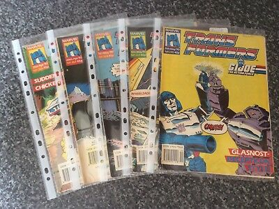 Vintage Transformers Comic Issues 266 267 268 269 270 Marvel Uk