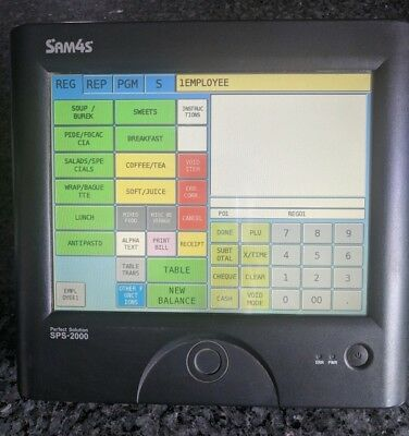 Sam4s Sps 2000 Touch Screen Cafe Retail Cash Register POS System SPS-2000
