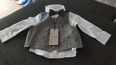 baby shirt waste coat and bow tie