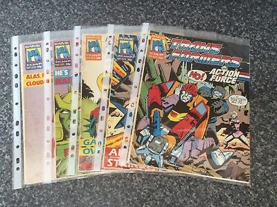 Vintage Transformers Comic Issues 220 221 222 223 224 Marvel Uk