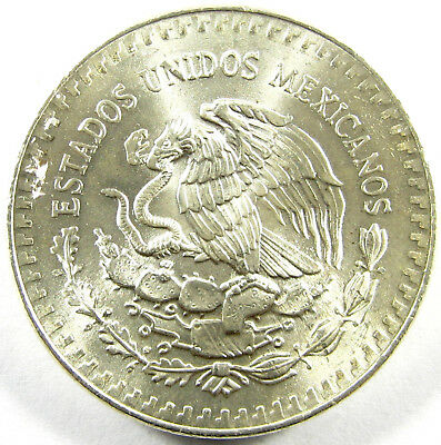 1985-Mo  Mexico  Onza  Km# 494.1  One Troy Ounce of Silver    BU