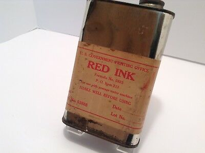 """GOVERNMENT """"RED INK"""" for Postage Meter Machine Dated 1958, Red Tape Postal"""