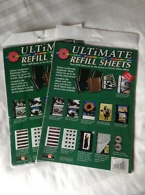 Ultimate Refill Photo Album Sheets