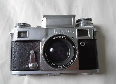 1950's USSR Made Kiev IIIA Leica Style 35mm Camera With 50mm Lens