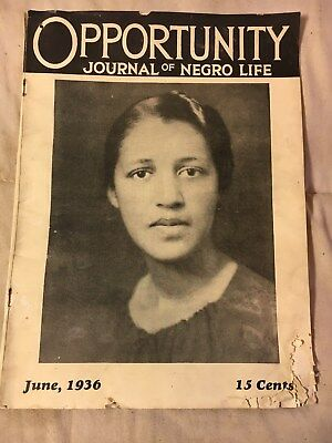 OPPORTUNITY JOURNAL of NEGRO LIFE JUNE 1936 Pub. by NATIONAL URBAN LEAGUE