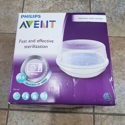Philips AVENT Microwave Steam Sterilizer NEW OPEN BOX