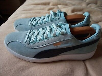 62d19e35de2 Puma Dallas Trainers Sky Blue   Navy retro terrace classic 80s football  casuals