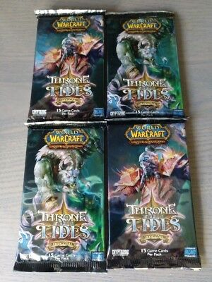WoW TCG 4 x Throne of the Tides Booster Packs - World of Warcraft - Loot?