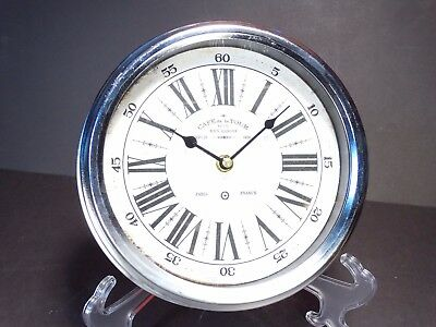 Vintage Old Fasion Style  Hanging Wall Mounted Clock , Metal and glass